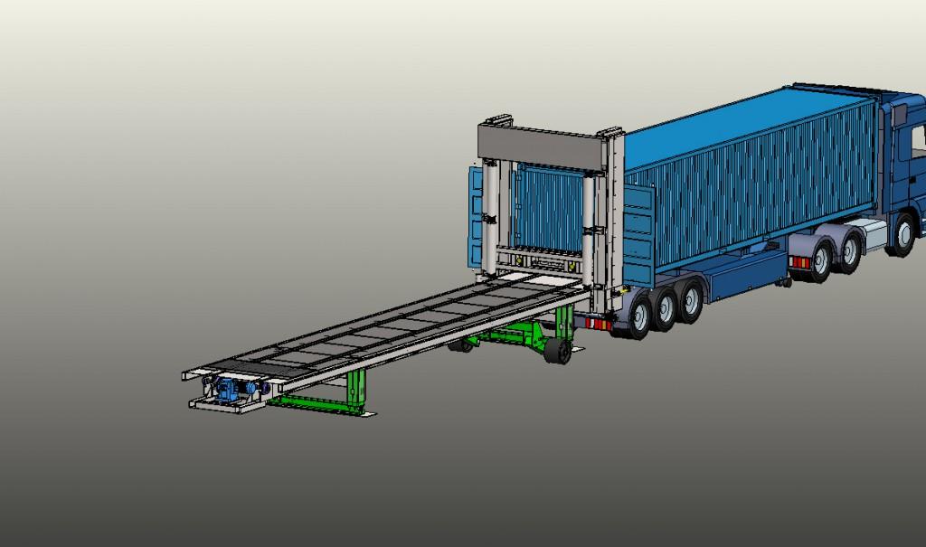 Zagruzochnyi agregat treilerov i konteinerov