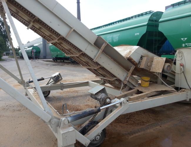 Транспортер для загрузки в вагон мини транспортеры гусеничные цена